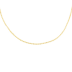 "14K Gold / 16"" Square Beaded Necklace 14K - Adina's Jewels"