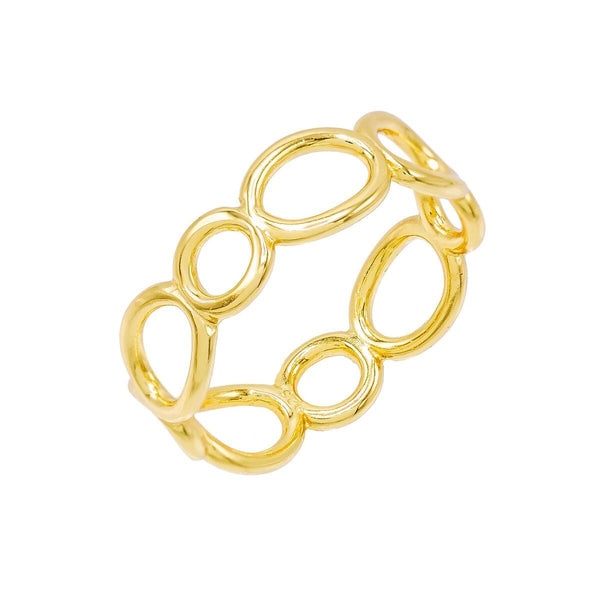 Gold / 6 Oval Link Ring - Adina's Jewels