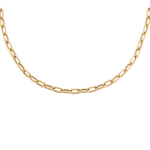 "14K Gold / 16"" Thick Chain Link Necklace 14K - Adina's Jewels"