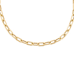 "14K Gold / 16"" / 7 MM Thick Oval Link Chain Necklace 14K - Adina's Jewels"