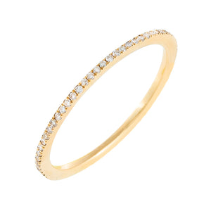14K Gold / 9 Thin Diamond Eternity Band 14K - Adina's Jewels