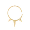 14K Gold Triple Spike Cartilage Hoop Earring 14K - Adina's Jewels