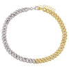 Combo Pavé Two Tone Chain Link Anklet - Adina's Jewels