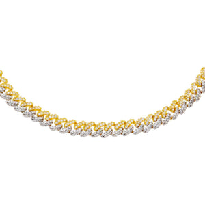 Combo Two Tone Pavé Chain Link Choker - Adina's Jewels