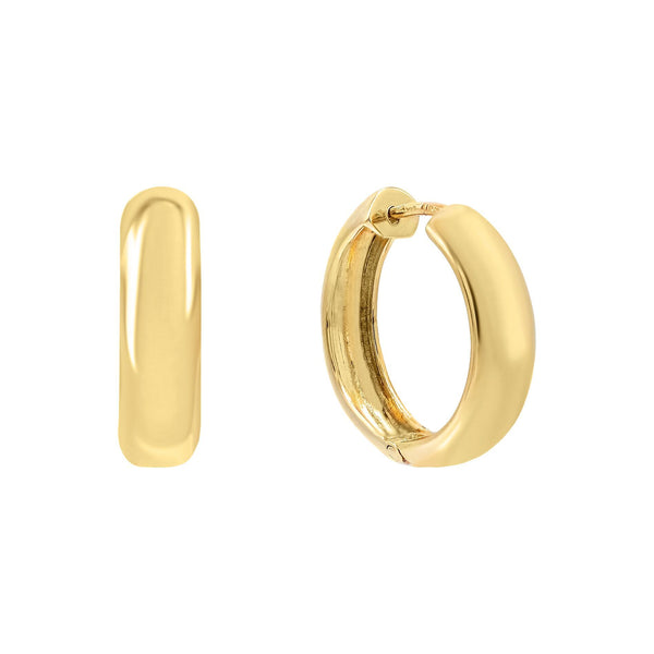 14K Gold Wide Endless Hoop Earring 14K - Adina's Jewels
