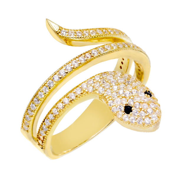 Gold / 8 Snake Ring - Adina's Jewels
