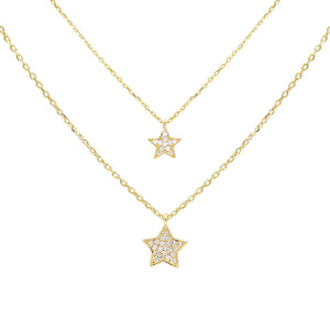 Gold Layered Star Necklace Set - Adina's Jewels