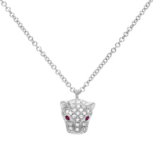 Diamond Panther Necklace 14K  - Adina's Jewels