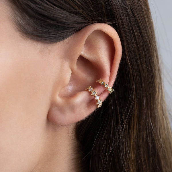 Bezel Star Ear Cuff - Adina's Jewels