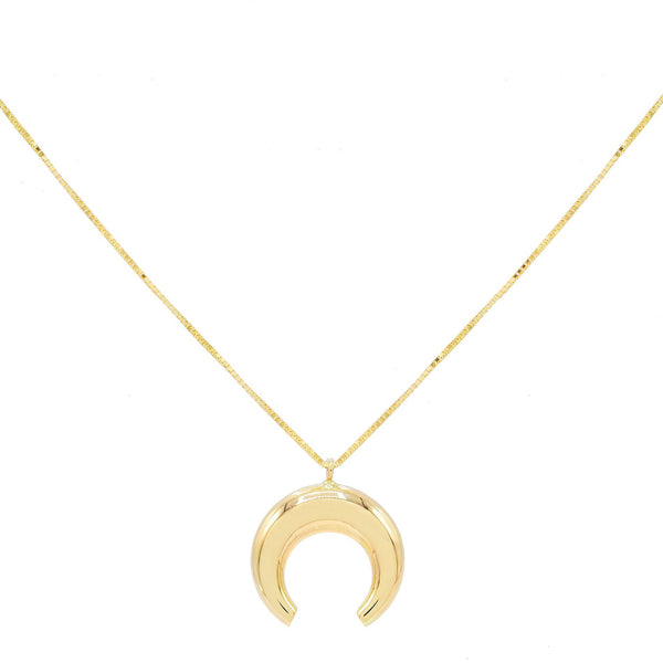 14K Gold Cowhorn Necklace 14K - Adina's Jewels