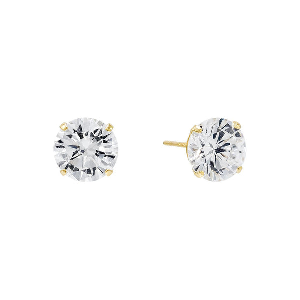 Solitaire Stud Earring 14K - Adina's Jewels