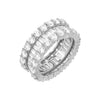 Silver / 6 Wide Baguette Eternity Band - Adina's Jewels