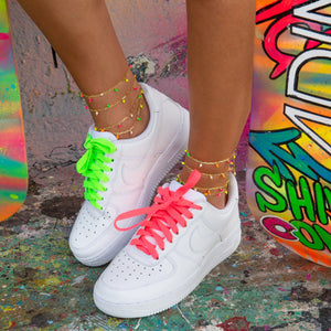 Multi Neon Link Anklet  - Adina's Jewels