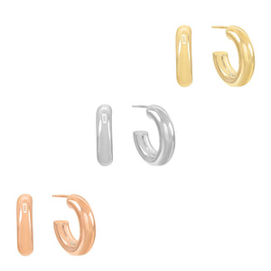 Combo X Small Thick Hollow Hoop Earring Combo Set - Adina's Jewels