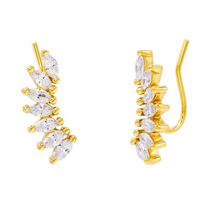 Gold Marquise Ear Climber - Adina's Jewels