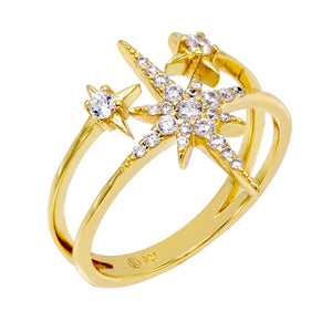 Gold / 9 Starburst Ring - Adina's Jewels