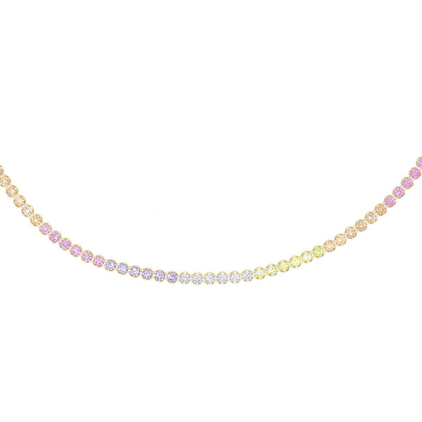 Multi-Color Pastel Rainbow Tennis Choker - Adina's Jewels