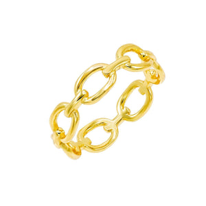 Gold / 5 Chain Link Ring - Adina's Jewels