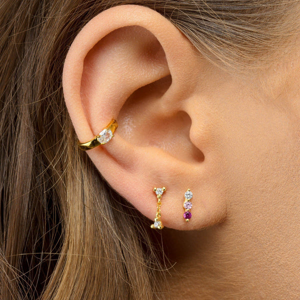 Color-Block Stud Earring