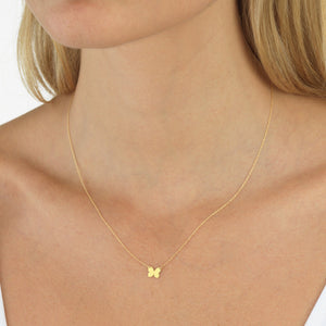 Butterfly Pendant Necklace 14K - Adina's Jewels
