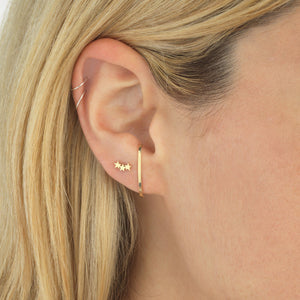 Hook Stud Earring 14K - Adina's Jewels