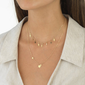 Trio Star Necklace 14K - Adina's Jewels