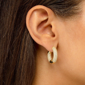 Colored Mini Tire Hoop Earring  - Adina's Jewels