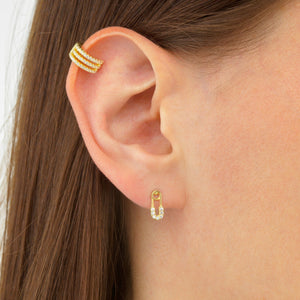 Baby Safety Pin Stud Earring  - Adina's Jewels
