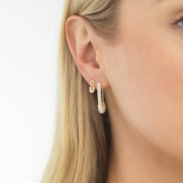 Baby Safety Pin Stud Earring