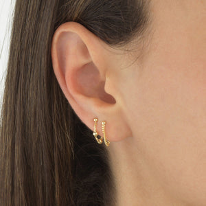 Ball Chain Stud Earring 14K - Adina's Jewels