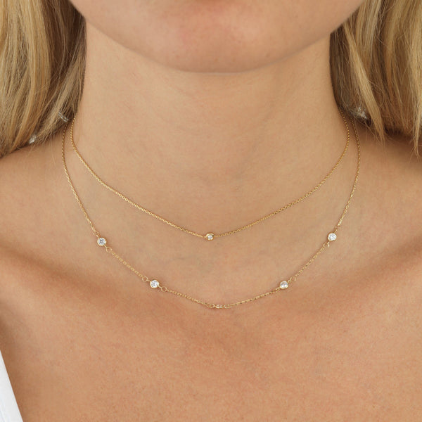 Olivia Necklace 14K - Adina's Jewels