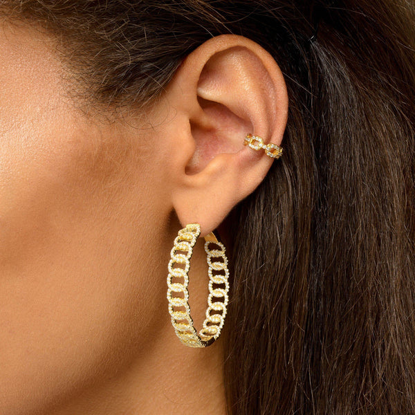 Cuban Chain Ear Cuff - Adina's Jewels