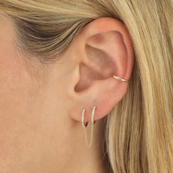 Solid Ear Cuff 14K
