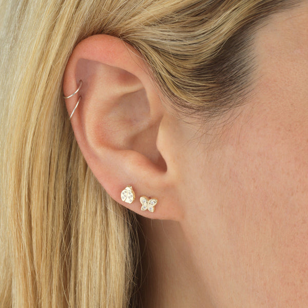 Butterfly Stud Earring 14K - Adina's Jewels