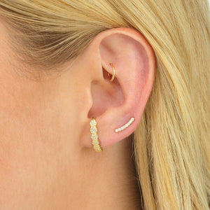Thin Bar Ear Climber  - Adina's Jewels