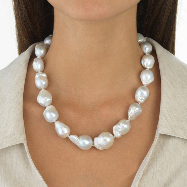 Large Baroque Pearl Necklace - Adina's Jewels