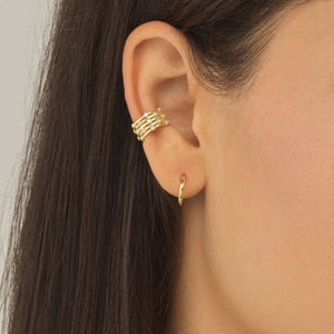 Five Row Bezel Ear Cuff - Adina's Jewels