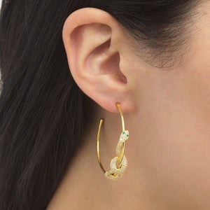 Twisted Snake Hoop Earring - Adina's Jewels