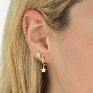 Diamond Star Stud Earring 14K  - Adina's Jewels