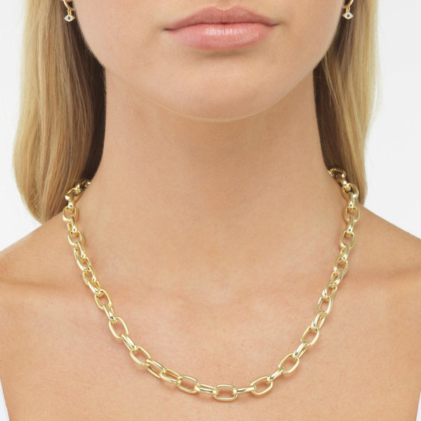 Chunky Chain Link Necklace - Adina's Jewels