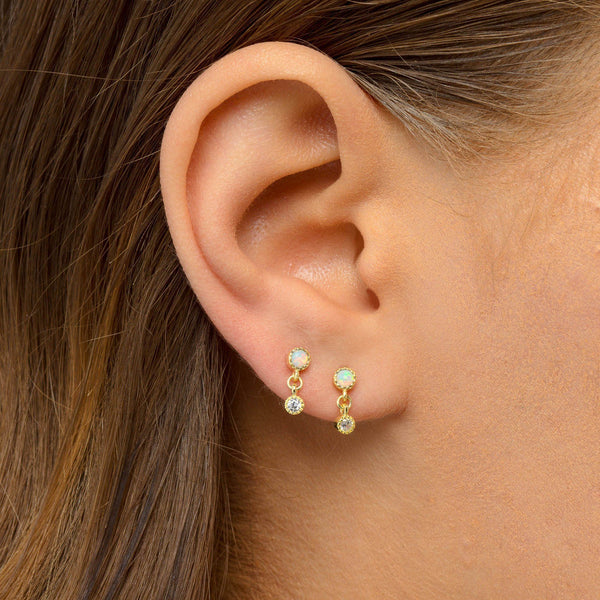 Opal Drop Stud Earring - Adina's Jewels