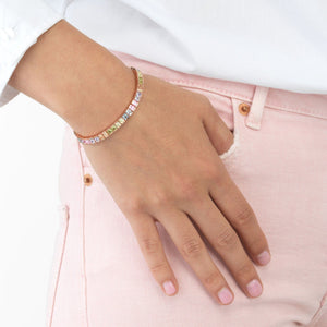 Pastel Princess Cut Bracelet - Adina's Jewels