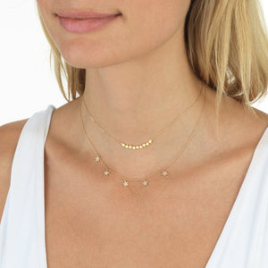 Diamond Star Choker 14K  - Adina's Jewels