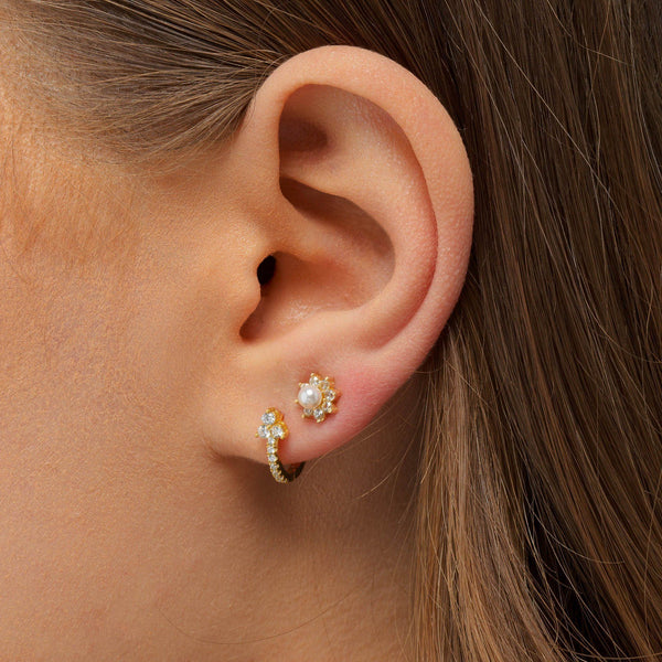 Pastel Pearl Flower Stud Earring - Adina's Jewels