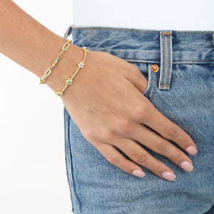 Chunky Bar Chain Bracelet - Adina's Jewels