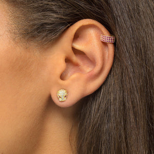 Panther Stone Stud Earring - Adina's Jewels