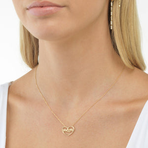 Mom Necklace 14K  - Adina's Jewels