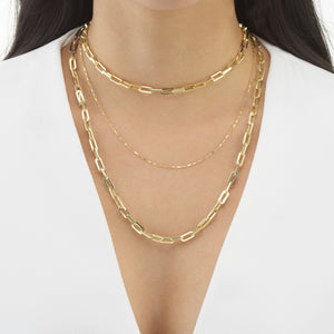 Box Link Necklace  - Adina's Jewels