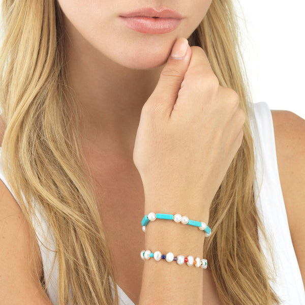 Turquoise Pearl Bracelet