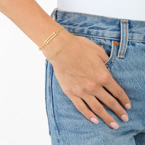 Pavé Safety Pin Bracelet - Adina's Jewels